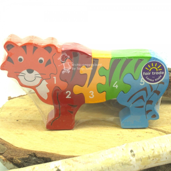 Tiger als 3D Puzzle in Holz