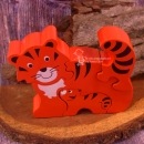 Lanka Kade 3D-HolzPuzzle - Tiger orange - 4 Teile